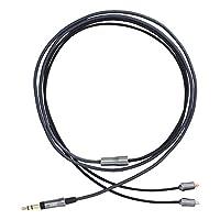AKG CN120-3.5 耳机线 3.5mm/高纯度6N-OFC导体/立体声迷你 深灰色 AC-3.5M-MMCX-1.2M 【国内正品】