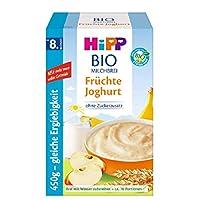 Hipp 喜寶 Bio-牛奶麥片粥 不含添加糖 優享裝 適合8月齡以上的寶寶 水果酸奶口味輔食 4件裝(4 x 450 g)