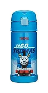 德国 THERMOS 膳魔师 卡通系列 不锈钢 保温/保冷 吸管杯 350ml 托马斯 (蓝) (F4013 TMS)