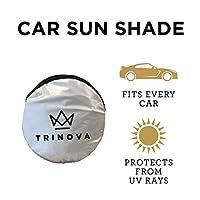 TriNova 汽车遮阳挡 挡风玻璃遮阳罩 *大限度的防紫外线 通用贴合 方便收纳