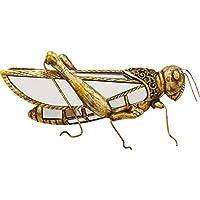 Kare Design 墙壁饰品草屋镜,金色的草丛林装饰,镜面墙壁装饰,高贵设计物体,各种规格(高/宽)18x40x7cm