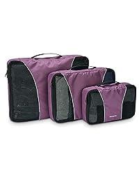 Samsonite 新秀麗 3件套收納包旅行手提包紫色 均碼