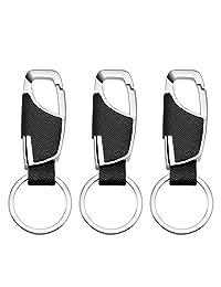 男士钥匙扣,3 件套阿姨礼物包多功能黑色皮带钥匙扣圣诞节/新年礼物/生日礼物