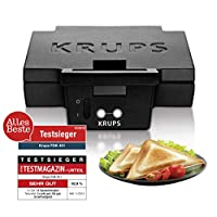 Krups FDK 451 烤三明治機(850瓦,面包板25 x 12厘米)黑色