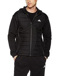adidas 阿迪达斯 男式 运动型格 梭织夹克 CF4839 黑/黑/白 SA HBD JKT