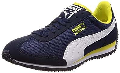 [PUMA] 训练鞋 HOARUUND 网眼 JR ピーコート/ブレイジング イエロー/プーマ ホワイト(18) 22.5 cm