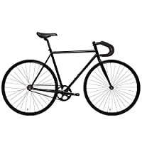 State Bicycle 4130 - 哑光黑色 | 双锁级铬钼钢 - 固定齿轮/单速 | 46 厘米落杆
