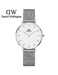 丹尼尔惠灵顿 DanielWellingtonDW手表新款32mm银色边白盘不锈钢米兰风格表带 DW00100164 瑞典品牌 专柜同款