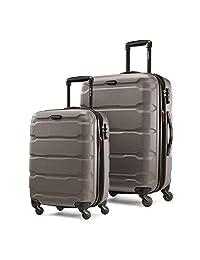 Samsonite 新秀丽 Omni PC 可扩展Hardside行李箱,带旋转轮,2件(20/24),银色