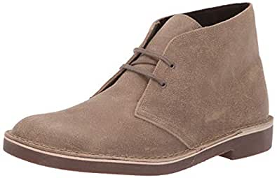 Clarks 男士 Bushacre 2 马球靴 Taupe Distressed Suede 070 MUS