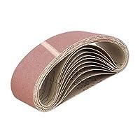 ABN 皮带砂纸磨砂皮带用于皮带磨砂机,氧化铝砂皮带 3x18 英寸 10 件装 100 Grit 9911