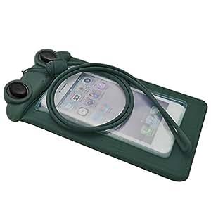 Silicon 通用防水手机壳适用于 iPhone 6、6s、5s 5c 5 4s,手机低于 12.7 cm,防水袋,袋子(深绿色)