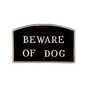 Montague Metal Products Beware of Dog 拱形墙板 标准 黑色 SP-4S-BS