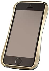DRACO Design Allure A Aluminum/Polycarbonate Hybrid Case for iPhone 5/5S - Retail Packaging - Gold/Black