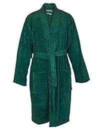 Bare Cotton 4020-0103-02 男士厚绒布和服长袍 绿色 均码 4020-2305-02