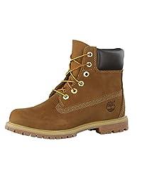 Timberland 女士 6英寸 优质防水短靴 Brown (Rust Nubuck) 5.5 UK