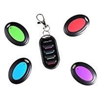 Uniclife Key Finder Wireless RF Item Locator, Remote Control, Pet, Cell, Wallet Locator with 4 Receivers