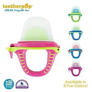 可填充、可冷冻的牙胶,适用于果汁、冰沙、果汁等(婴儿牙胶为美国制造,不含 BPA) Pink/Limon