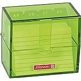 Brunnen 102058052 索引卡盒,8.5×7,5 × 4.8厘米(适用于 A8 索引卡),聚苯乙烯,kiWI,颜色代码