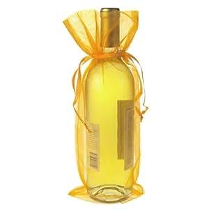 Homeford FNS004054ORG 欧根纱礼品袋,15.24 X 36.83 cm,12 包,橙色,15.24 X 35.56 cm