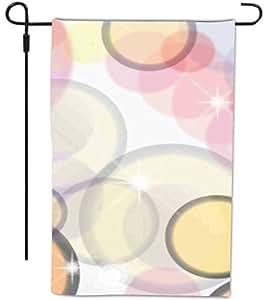 Rikki Knight 神秘圆圈设计装饰房屋或花园全出血旗帜,30.48 x 45.72 厘米