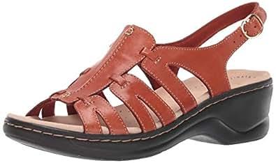 Clarks 其乐 Lexi Marigold Q 女士凉鞋 锈皮革 5.5