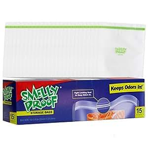 """一盒防臭清洁袋 透明 8.5"""" x 10""""/Large 6004699"""