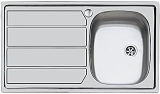 Idro Bric u81020 DX1 79 x 50 cm 不锈钢,内置1个碗右手水槽,带排水器