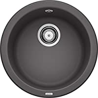 Blanco Rondo 廚房水槽 圓形水槽 由Silgranite PuraDur制成 一件 巖灰色 518910