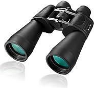 MaxUSee 12X60 高清专业双筒望远镜 BAK4 棱镜 FMC 镜头适用于旅行、徒步、观鸟观光月亮观赏