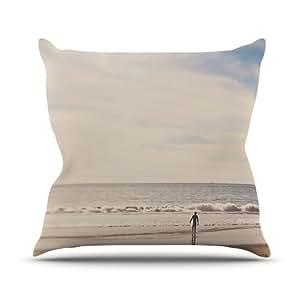 Kess InHouse Myan Soffia Ritual 沙滩沙户外抱枕,26 x 26 英寸