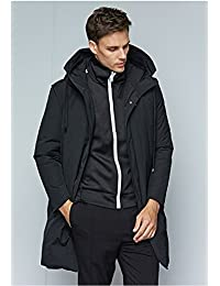 普斯特 羽绒服长款男大衣 冬季男士羽绒服外套连帽保暖外套宽松