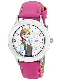 迪士尼女童安娜不锈钢粉色动画手表