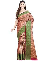 Chandrakala 女式棉混纺印度民族香拉西纱丽未缝合女衬衫 (1283)