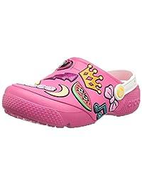 Crocs 卡骆驰儿童男孩和女孩有趣的实验室补丁洞洞鞋