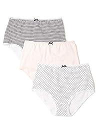 IRIS & LILLY Women's Cotton Full Brief Knicker 3-Pack
