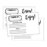 25 x 6 精油样品卡片,适用于 Doterra、Young Living、样瓶盒、包装、套装、套件、包、包装、盒、包装盒展示样品标签,适用于经销商派对商务用品