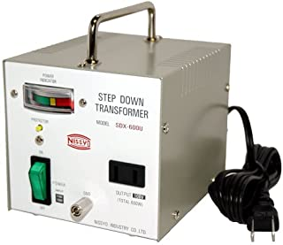 Nissyo industrial Transformer SDX series (voltage down) 110V / 120V ? 100V600W SDX-600U