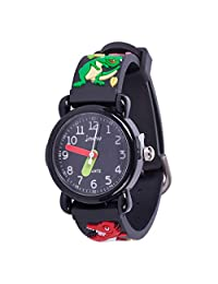 儿童手表,3D 可爱卡通防水硅胶手表,适合女孩和男孩,幼儿腕表