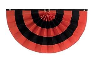 独立狩猎和旗帜 5 条纹棉质褶饰粉丝,橙色/黑色/橙色/黑色/橙色 36 by 72-Inch CFAN36-5OBOBO