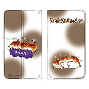 mikarashi 猫咪 手机壳 笔记本型 薄型印刷笔记本 角落萌宠WN-LC616223-S 4_ AQUOS PHONE si SH-07E すとれすもぐもぐE