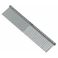 Andis 宠物钢制梳理梳 (65730),银色,7 1/2 英寸