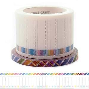 World Craft 日式纸胶带 2 件套 Check List + Slash W01-TM30