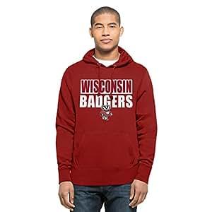NCAA Wisconsin Badgers Men's Headline Pullover Hoodie, Medium, Red
