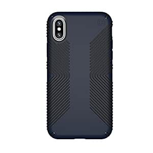 Speck Products Presidio Grip iPhone X 手机壳103131-6587 Presidio Grip 均码 Eclipse 蓝色/碳黑色