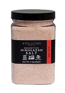 Evoltion Salt Co 美食粉粉色喜马拉雅盐,精细研磨,17 盎司(6 瓶装)