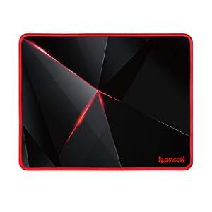 """Redragon 游戏鼠标垫,高级纹理鼠标垫,防滑,适用于电脑笔记本电脑 12.8""""x10""""x0.11"""" 黑色"""