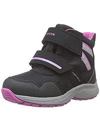 Geox J Kuray Girl B ABX B 雪地靴 Black (Black/Fuchsia C0922) 7 UK