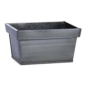 Skalny 19.05 厘米 x 13.41 厘米 黑色 矩形 锡花盆 灰色 5320GRY