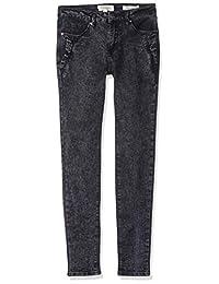 Jessica Simpson 女童黑色水洗紧身牛仔裤